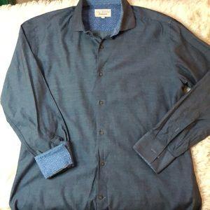 Ted baker flip cuff button up shirt neck size 16